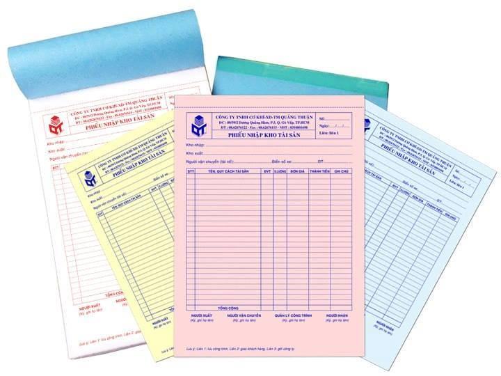 Các loại hóa đơn xuất nhập kho