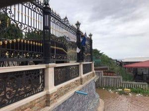 Hảng rào sắt pano tại Sắt Mỹ Thuật Minh Phúc