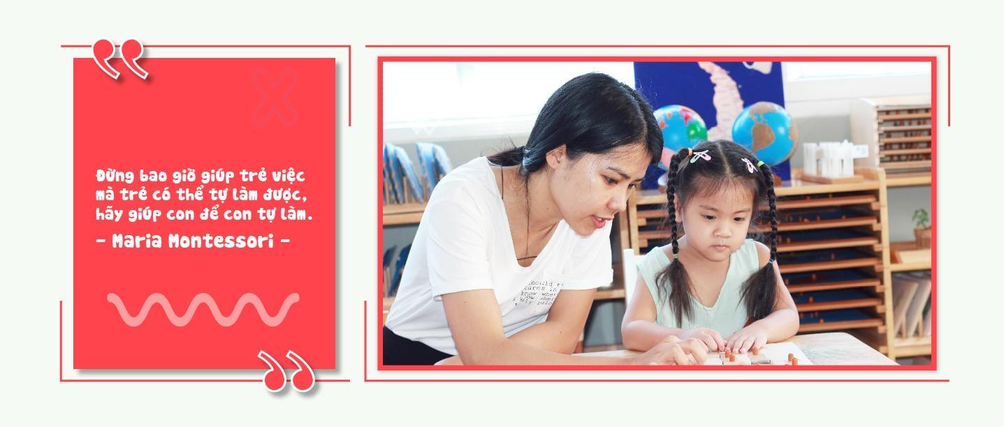 Phương pháp monterssori chỉ có tạimầm non Montessori Smiling Fingers