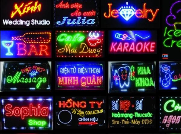 Các loại đèn led quảng cáo thông dụng hiện nay