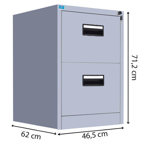 Tủ đựng tài liệu nhỏ 2 ngăn kéo với kích thước phổ biến