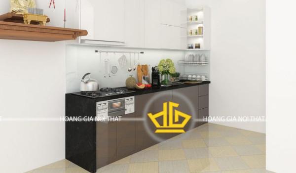 Mẫu tủ bếp acrylic đẹp chất lượng 1