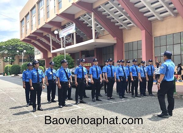 Công ty dịch vụ bảo vệ tại Thành phố Hồ Chí Minh đang được tập huấn
