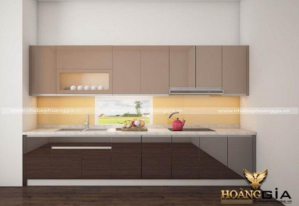 Tủ bếp gỗ acrylic An Cường làm cho căn bếp tô thêm vẻ đẹp sang trọng