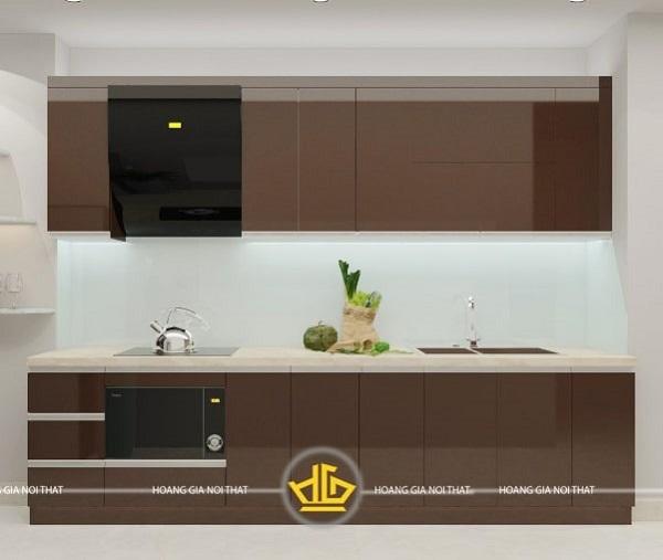 Tủ bếp gỗ acrylic An Cường được rất nhiều người ưa chuộng
