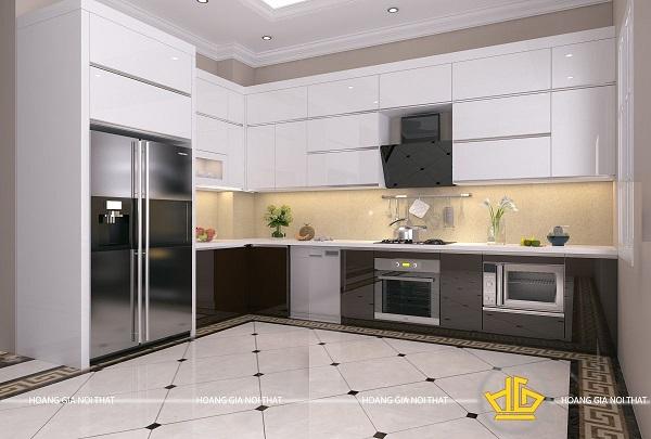 Tủ bếp hiện đại và tiện dụng phổ biến