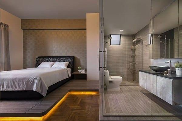 Nhà vệ sinh nên đặt ở đâu trong phòng ngủ?