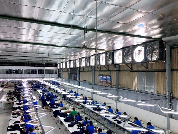 Thiết kế thi công hệ thống thông gió xưởng may